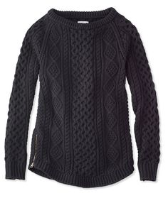 LL Bean Signature Cotton Fisherman Tunic Sweater...
