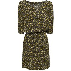 MANGO Printed Straight-Cut Dress ($50) via Polyvore