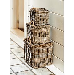 Rustic Rattan 1948 Basket S/3 - Coming Soon | Rivièra Maison