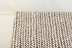 Brown and white geometric print cotton fabric for quilting or home design fabric oval elements by Klaptik on Etsy