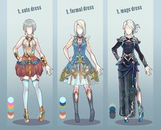 just some quick adopt set, last in this year^^ I'm going to make new style of adopts, beter and priettier^^ 1. cute dress SOLD :iconapphire-spider: 2. formal dress SOLD :icowintryabyss: 3. mage dre...