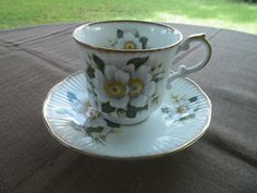 Tea Cup and Saucer Queens Fine Bone China Made in England Rosina China Co Ltd - pinned by pin4etsy.com