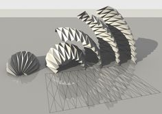 Parametric Origami By mLab_CasaleValentiCalvano