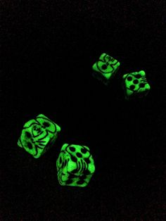 Oh, the sound of rollin dice to me is music in the air...    These dice are replicas of those belonging to Oogie Boogie, the villain of the wonderful