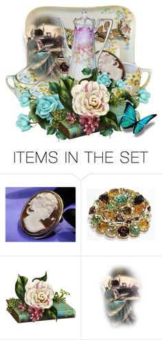 End of the Day ~  A Good Book & a Cup of Tea by pattysporcelainetc on Polyvore featuring art and vintage