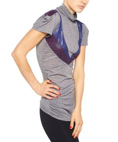 Look what I found on #zulily! Gray Angel-Sleeve Top by Nuvula #zulilyfinds