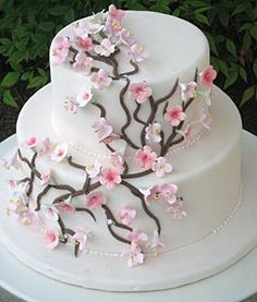 cakes using cherry blossom decorations | Posted by Manju at 6:26:00 PM 4 comments: