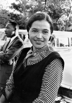 Rosa Parks with Martin Luther King 1955