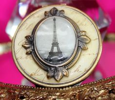 Vintage Parisian Eiffel Tower Mirror Compact