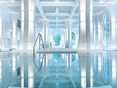 A Classy, Majestic Resort in the Swiss Alps — Grand Resort Bad Ragaz – SWITZERLAND Jacuzzi Outdoor, Outdoor Baths, Bad Ragaz, Water Architecture, Spa Breaks, Best Spa, Water Slides, Grand Hotel, Hotel Spa