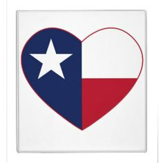 Texas Flag Heart Vinyl Binder - Memorable quotes about Texas.  Kinky Friedman and James Dean.