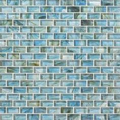 Mosaics come and go but this one is definitely a viewer favorite. Glass Expressions Micro Blocks in Azure is our most Pinned image of all time. Congratulations are in order! #ShawFloors #Design #GlassMosaics #FloorDimensions
