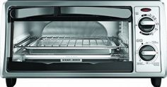 Toaster ovens have become part-and-parcel of the modern kitchen. Some will toast bread; Black And Decker Toaster, Look Good Feel Good, Specialty Appliances, Best Black, Small Kitchen Appliances, Kitchenware, Home And Garden, Toaster Ovens, Stainless Steel
