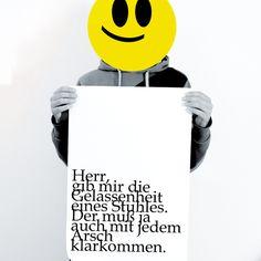 """Typo Poster """"jeder Arsch"""" // Typo Print by heyhey via DaWanda.com"""