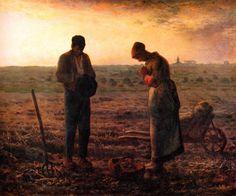 """Jean F. Millet, """"El Ángelus"""", 1857-1859."""