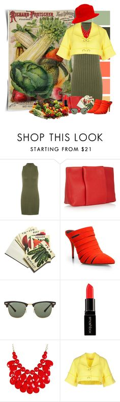 """""""Vegetable Garden"""" by cathy1965 ❤ liked on Polyvore featuring WearAll, Alexander Wang, Beekman 1802, Ray-Ban, Smashbox, Fornarina and MANGO"""