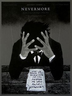 Nevermore Edgar Allan Poe poster by Alan Hynes