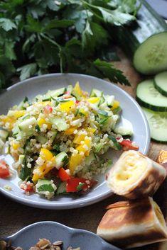 Orientalische Vorspeisenplatte | Fräulein Sommerfeld Bbq, Dessert, Cobb Salad, Dinner, Food, Recipies, Barbecue, Dining, Barrel Smoker