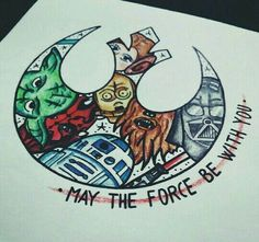 Star Wars: May the Force be with You Dream Tattoos, Future Tattoos, Body Art Tattoos, Game Tattoos, Tatoos, War Tattoo, Star Wars Tattoo, Book Tattoo, Tatouage Goth