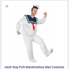 Ghostbusters Stay Puft Marshmallow Man Ghostbusters... Stay Puft Marshmallow Man full size Adult Costume! Who you going to call, Ghostbusters! 1980's cult classic smash hit Ghostbusters!  Who you gonna call, Ghostbusters! Adult size Extra Large, please note hat not included, there are a few snags from storage, see pictures.  I LOVE Bundling to Save YOU MONEY on shipping! All items are from clean, smoke free, animal friendly home. Ghostbusters  Jackets & Coats