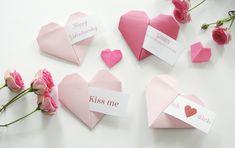 Braucht ihr noch ein Last-Minute Geschenkidee für den Valentinstag? Dann ist dieses süße Origami Herz genau das Richtige für euch.