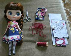 tiny handmade: Blythe vintage hanky dress