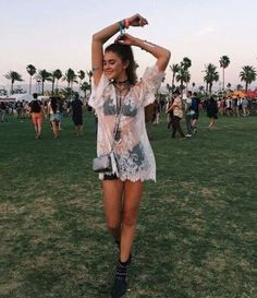 Sheer fabrics are perfect for festival outfits!