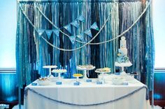 The desser table! | To the Moon and Back Baby Shower | Mirage+Light Photography and Caroline Martin Photography | @operationshower | @sweetsindeed
