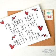 Funny Valentines Day Card Valentines Card Funny by KnottyCards