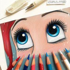 Ariel (Eyes by Art_Is_Life100 @Instagram) #TheLittleMermaid