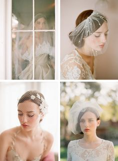 veils --- loved the one at the lower left hand corner, exactly what I want to wear on my wedding day...