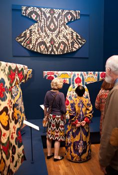 Antique Uzbek Ikats inTextile Museum... Opening Reception for Colors of the Oasis.