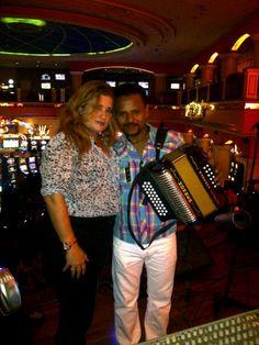 Con Herminio Rojas en el Royal Casino