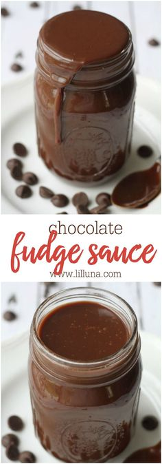 The BEST Homemade Chocolate Fudge Sauce - great on any dessert and especially ice cream! Chocolate Fudge Sauce, Hot Fudge Sauce, Chocolate Desserts, Chocolate Chips, Chocolate Tarts, Chocolate Cupcakes, Homemade Chocolate Sauce, Chocolate Sauce Recipes, Chocolate Smoothies