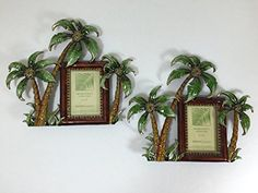 Pair of 2 Picture Frames Tropical Palm Trees 2 x 3 Pewter Desktop Photo Tabletop Hawaiian Wear, Desktop Photos, Kind Person, Wonderful Things, Palm Trees, Pewter, Picture Frames, Tropical, Tabletop