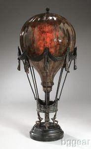 Maitland Smith Penshell Crackle Hot Air Balloon Table Lamp