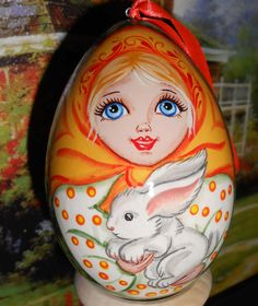 Easter Egg with russian doll matryoshka and the by Artworkshop1, $12.00