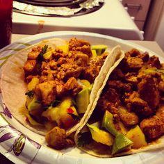 Spicy Mahi-Mahi and Mango Tacos