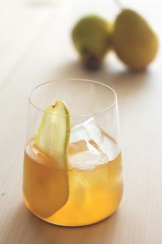 Pumpkin Pie Bourbon and Pear Cocktail by HonestlyYUM