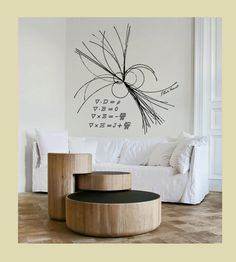 These are in fact closer to 2' x 2'. How much to get them THIS size? Science art physics Maxwell equations & ray of light vinyl wall decal