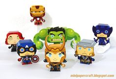Mini Papercraft: Loki- Scroll back through previous posts for rest of avengers 3d Paper Crafts, Paper Toys, Diy Paper, Paper Crafting, Origami, Hulk Buster, Die Rächer, Crafts For Kids, Arts And Crafts