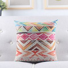18-Multicolor-Geometric-Patterned-Cotton-Linen-Throw-Pillow-Case-Cushion-Cover