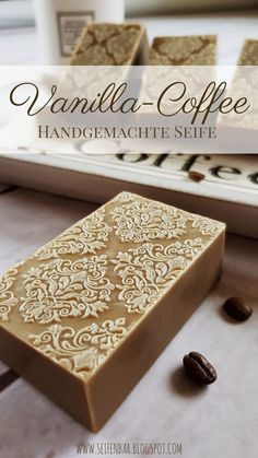 Vanilla Coffee - Handmade Coffee Soap making . Diy Beauté, Coffee Soap, Soap Maker, Homemade Soap Recipes, Soap Packaging, Lotion Bars, Soap Molds, Cold Process Soap, Home Made Soap