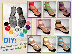 DIY: Como hacer Sandalias con Tiras Intercambiables