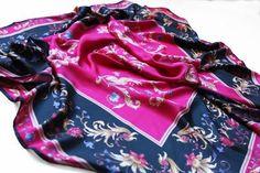 """Silk shawl """"Wild freesia"""""""