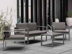 Aluminium Gartenmöbel Set Dunkelgrau   Sitzgruppe   Sukon Arte Home
