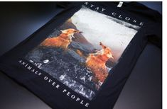 Animals Over People T-Shirt by Stay Close Clothing Companie