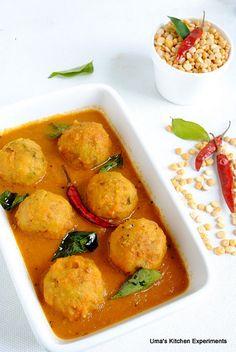 Indian Curry Trail: Paruppu Urundai Kulambu / Lentil Balls in Tamarind Gravy Vegetarian Dinners, Vegetarian Recipes, Cooking Recipes, Easy Recipes, Vegan Indian Recipes, Tamarind Recipes Vegan, Tagine Cooking, Anti Candida Diet, Vegan Main Dishes