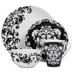 Super Diy Room Decir For Teens Vintage Black And White Ideas Art Nouveau, Art Deco, Black And White Dishes, Black White, Dollar Tree Plates, Lunar Chronicles Books, Damask Decor, Dinner Plate Sets, Dinner Plates
