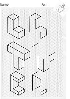 1 cm Isometric Grid Paper (Portrait) (A) Math Worksheet #